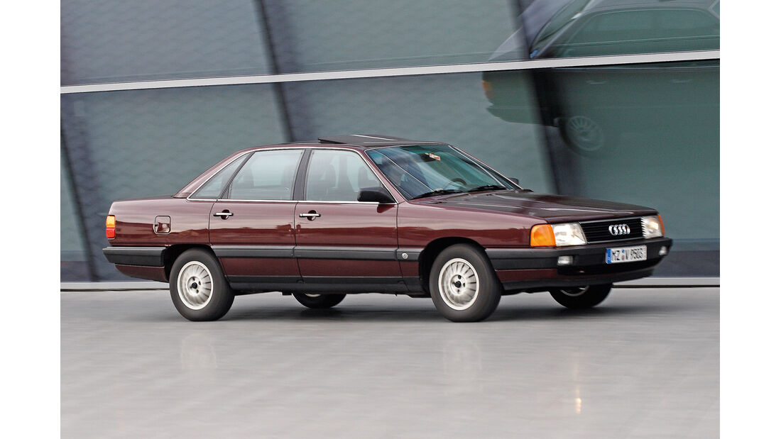 Audi 100, Seitenansicht