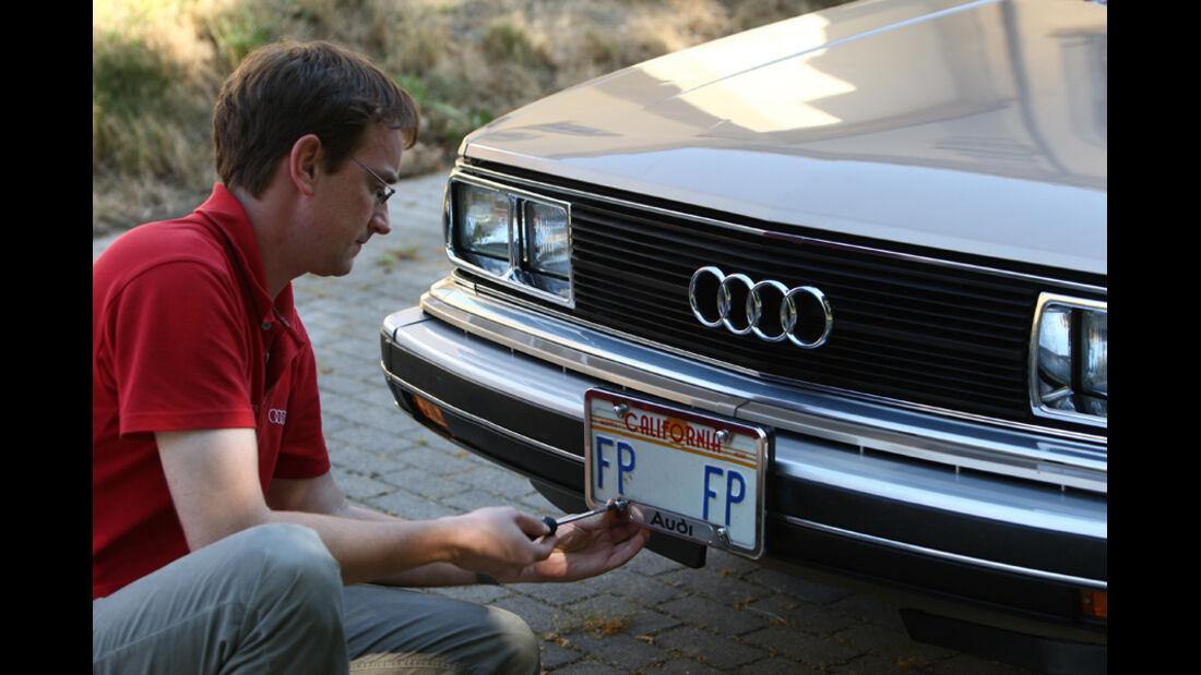 Audi 5000S, Detail, Andreas Bauditz, Nummerschild