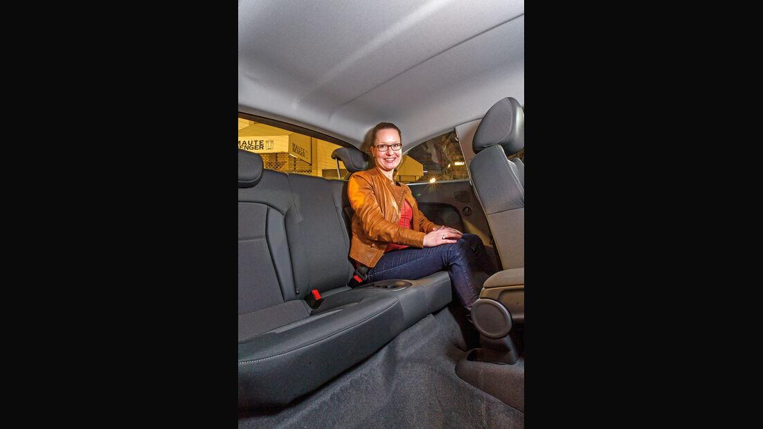 Audi A1 1.2 TSI, Rücksitz, Beinfreiheit