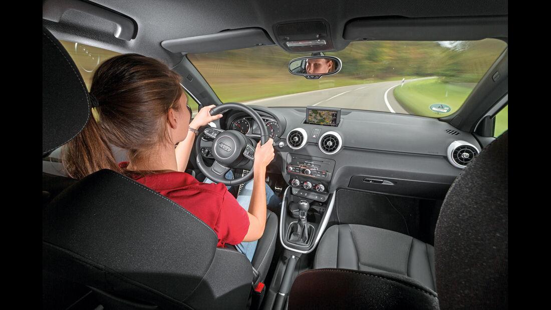 Audi A1 1.4 TFSI, Cockpit, Fahrersicht