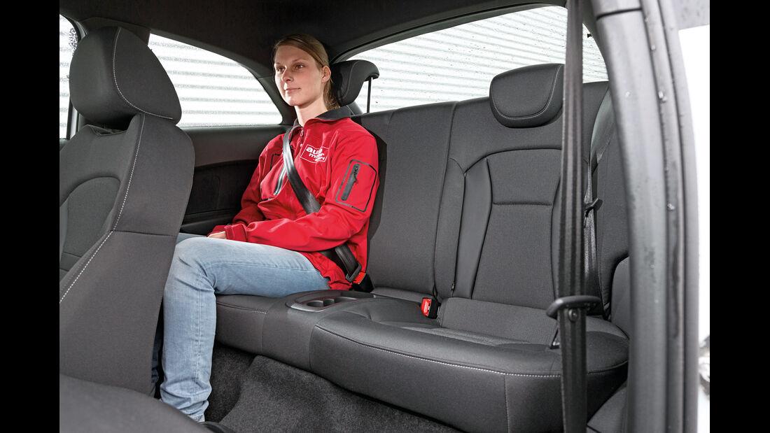 Audi A1 1.4 TFSI, Fondsitz, Beinfreiheit