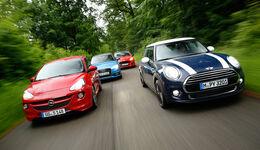 Audi A1 1.4 TFSI, Ford Fiesta Sport, Mini Cooper, Opel Adam S