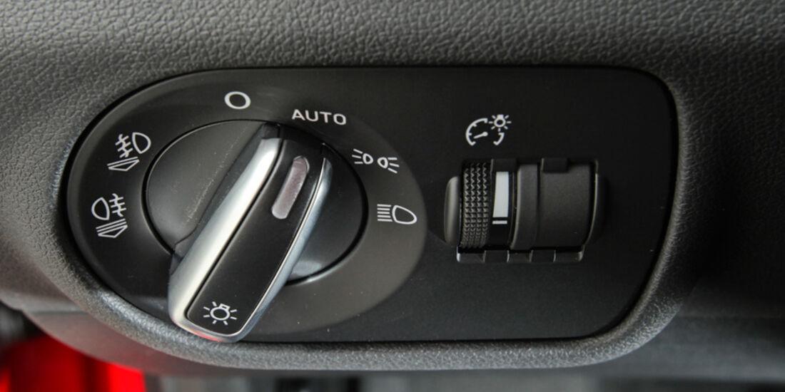 Audi A1 1.4 TFSI, Lichtschalter
