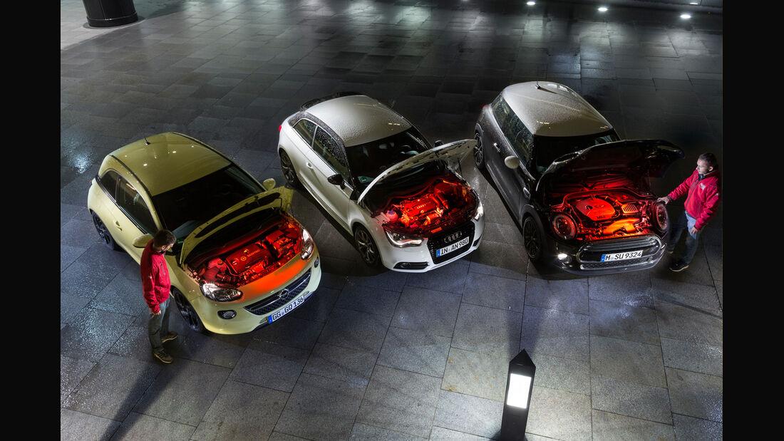 Audi A1 1.4 TFSI, Mini Cooper, Opel Adam 1.0 DI Turbo