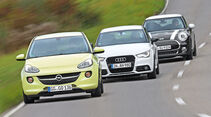 Audi A1 1.4 TFSI, Mini Cooper, Opel Adam 1.0 DI Turbo