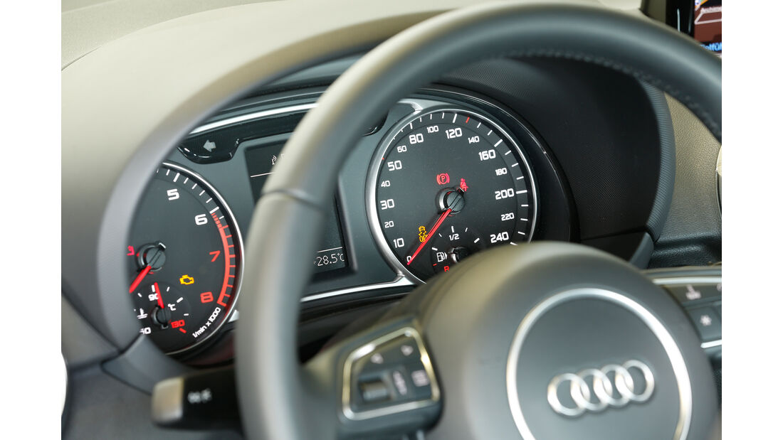 Audi A1 1.4 TFSI, Rundinstrumente