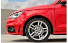 Audi A1 1.4 TFSI, Seitenansicht, Felge, Rad