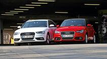 Audi A1, Audi A4, Frontansicht