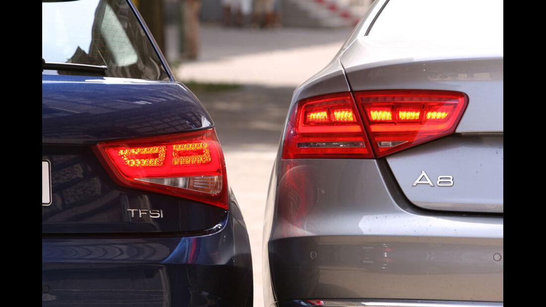 Audi A1, Audi A8, Rücklicht, LED