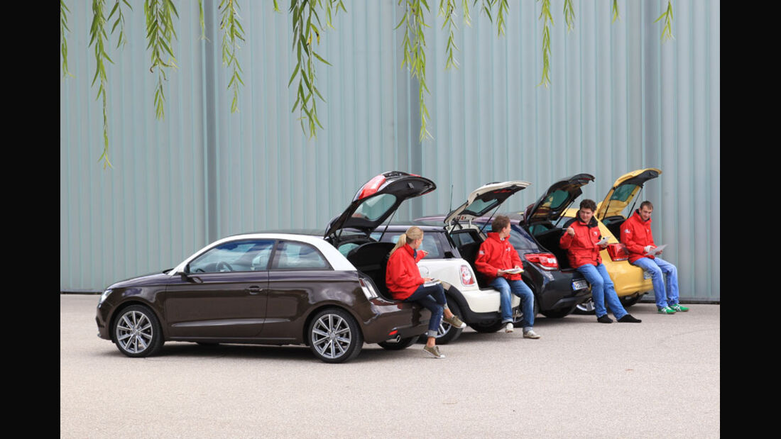 Audi A1, Citroen DS3, Mini Cooper, VW Polo