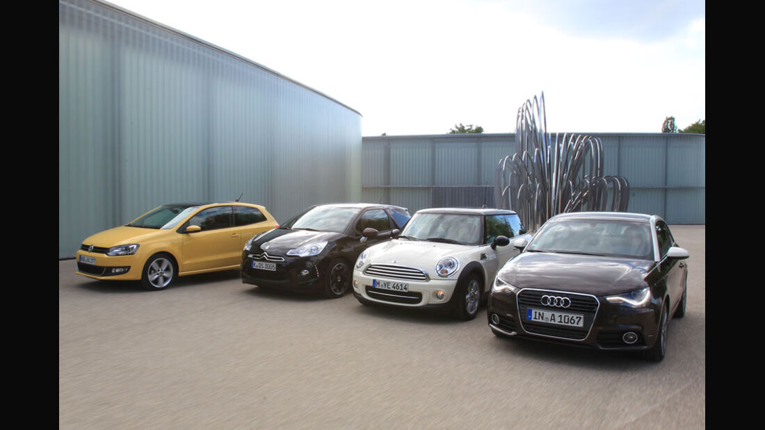 Audi A1, Citroen DS3, Mini Cooper, VW Polo