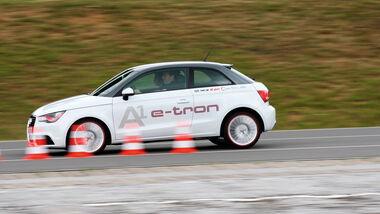 Audi A1 E-Tron, Bremstest