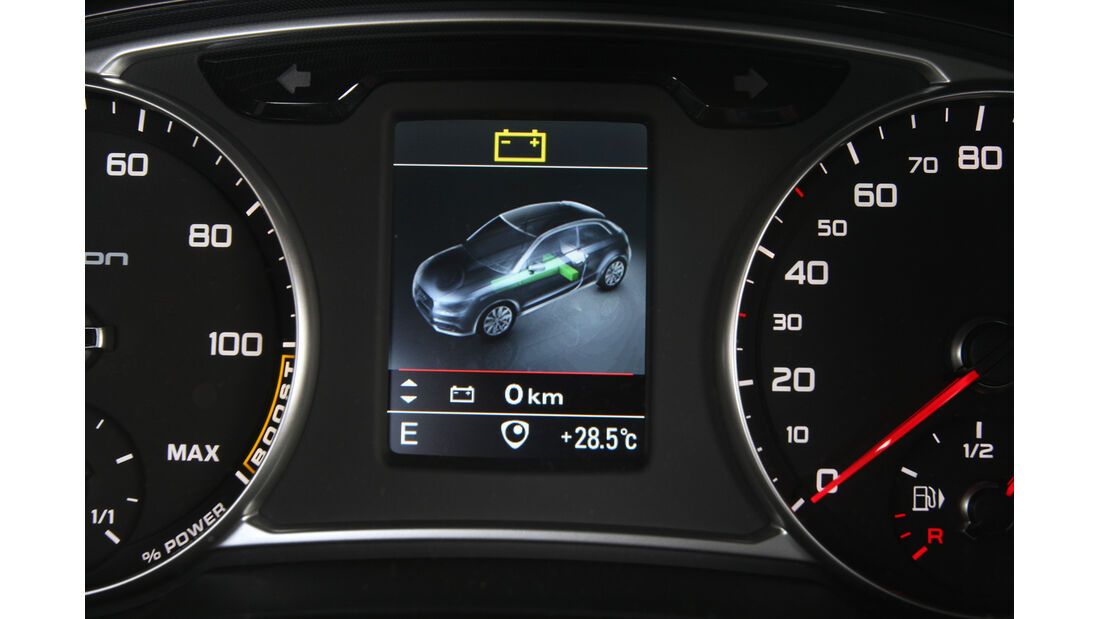 Audi A1 E-Tron, Rundinstrumente