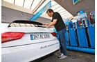 Audi A1 E-Tron, Tankstelle