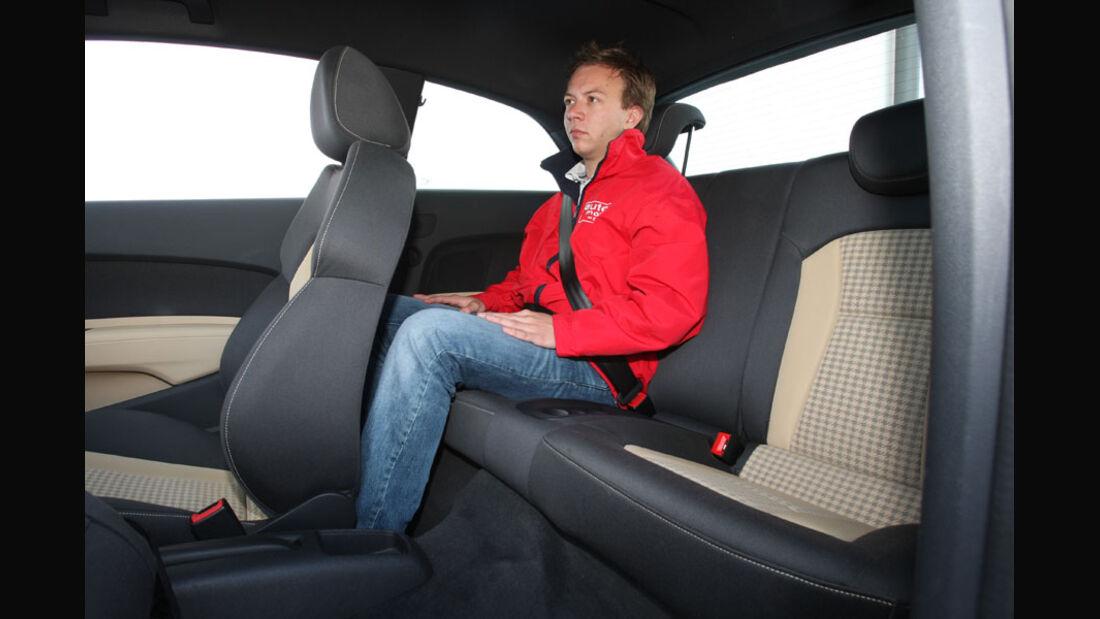 Audi A1, Fond, Rückbank
