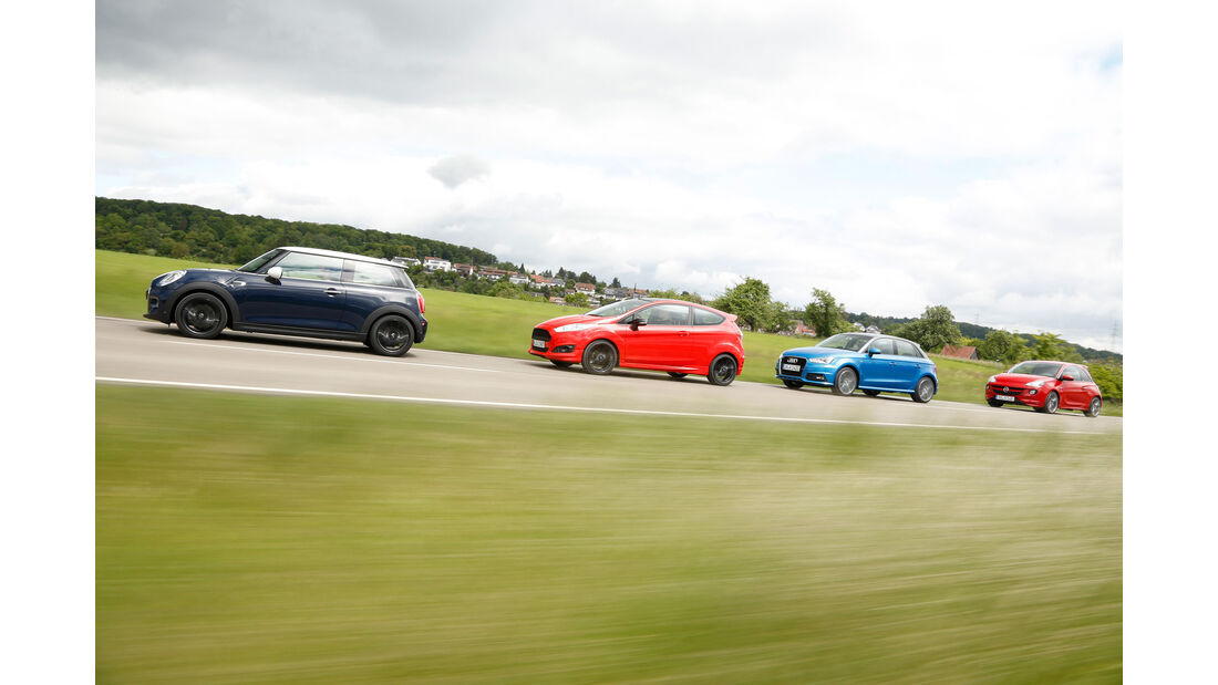 Audi A1 - Ford Fiesta Sport - Mini Cooper - Opel Adam S