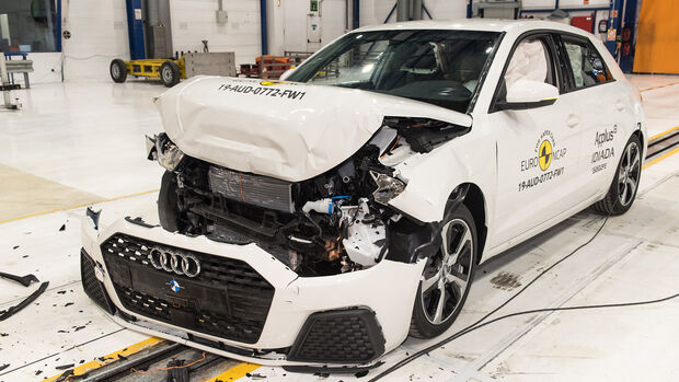 Audi A1 - Frontal Full Width test 2019 - after crash