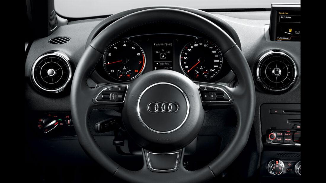 Audi A1, Multfunktionslenkrad