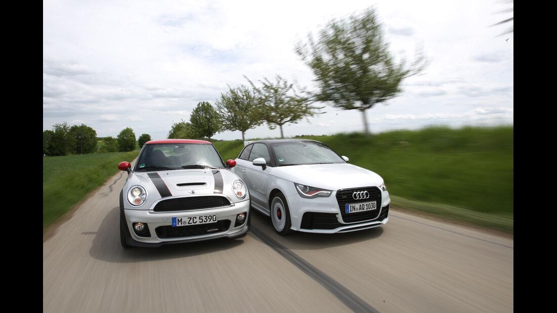 Audi A1 Quattro, Mini John Cooper Works, Frontansicht