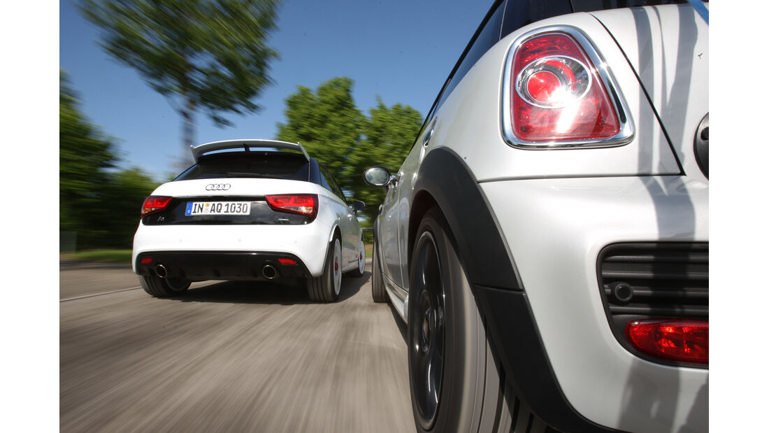 Audi A1 Quattro, Mini John Cooper Works, Heck