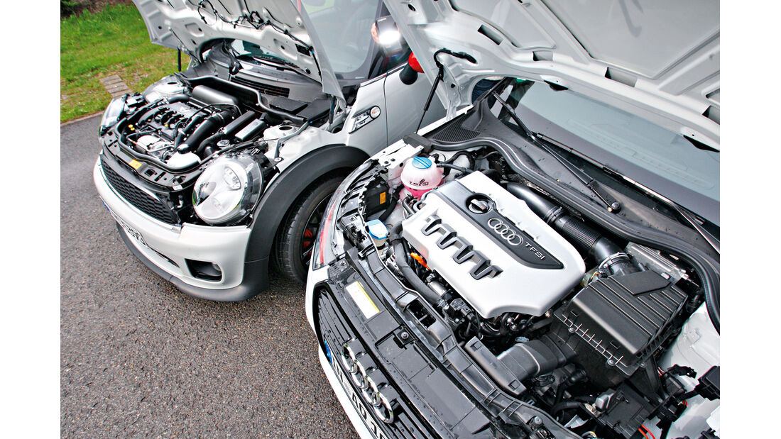Audi A1 Quattro, Mini John Cooper Works, Motor