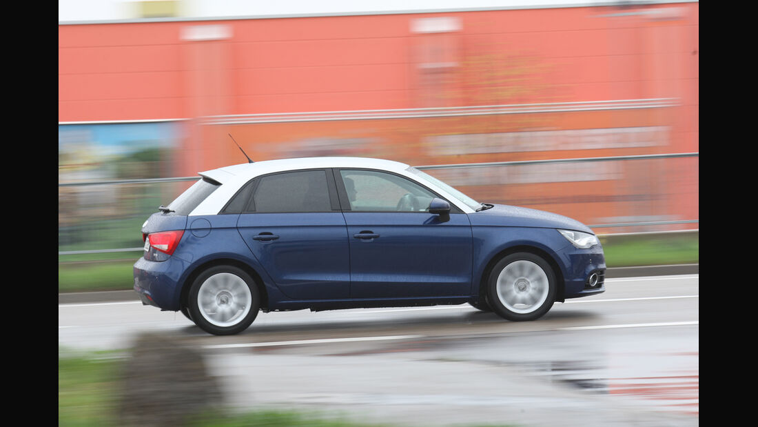 Audi A1 Sportback 1.2 TFSI, Seitenansicht