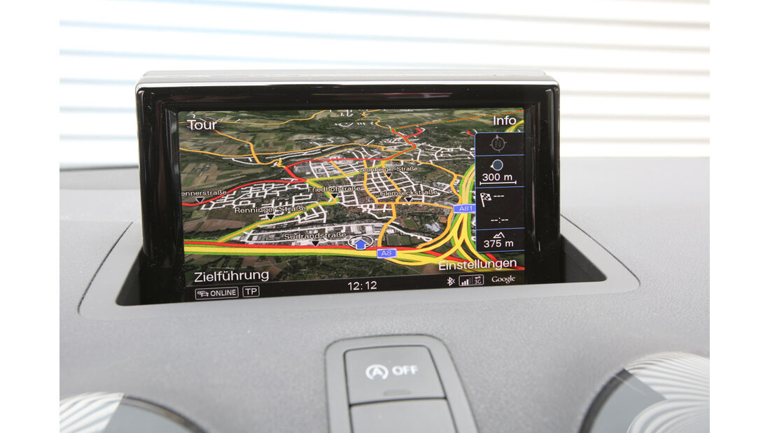 Audi A1 Sportback 1.4 TFSI, Navi, Bildschirm