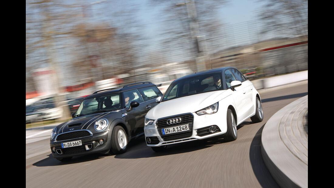 Audi A1 Sportback 2.0 TDI Ambition, Mini Cooper SD Clubman, Front