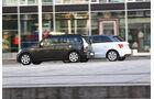 Audi A1 Sportback 2.0 TDI Ambition, Mini Cooper SD Clubman, Seitenansicht