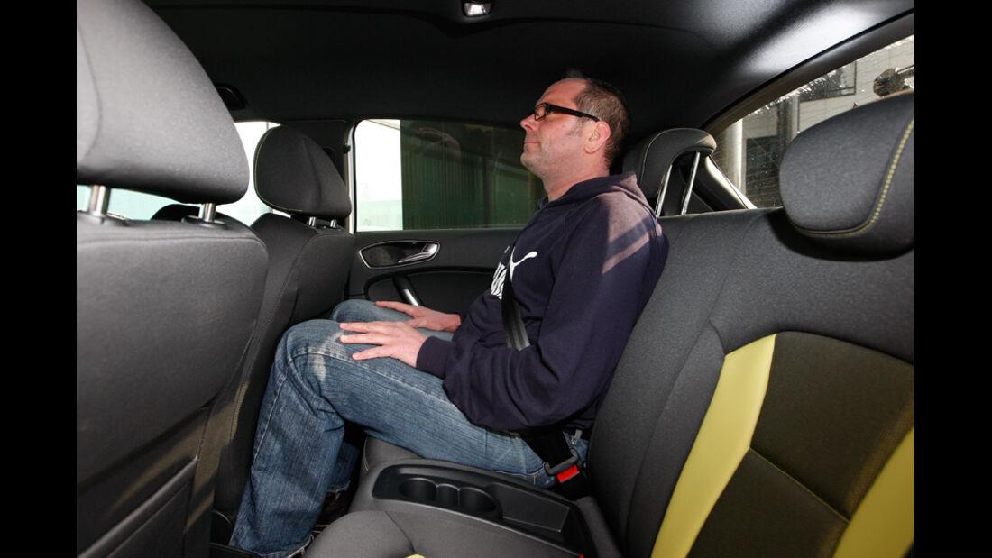 Audi A1 Sportback 2.0 TDI, Beinfeiheit, Rücksitze