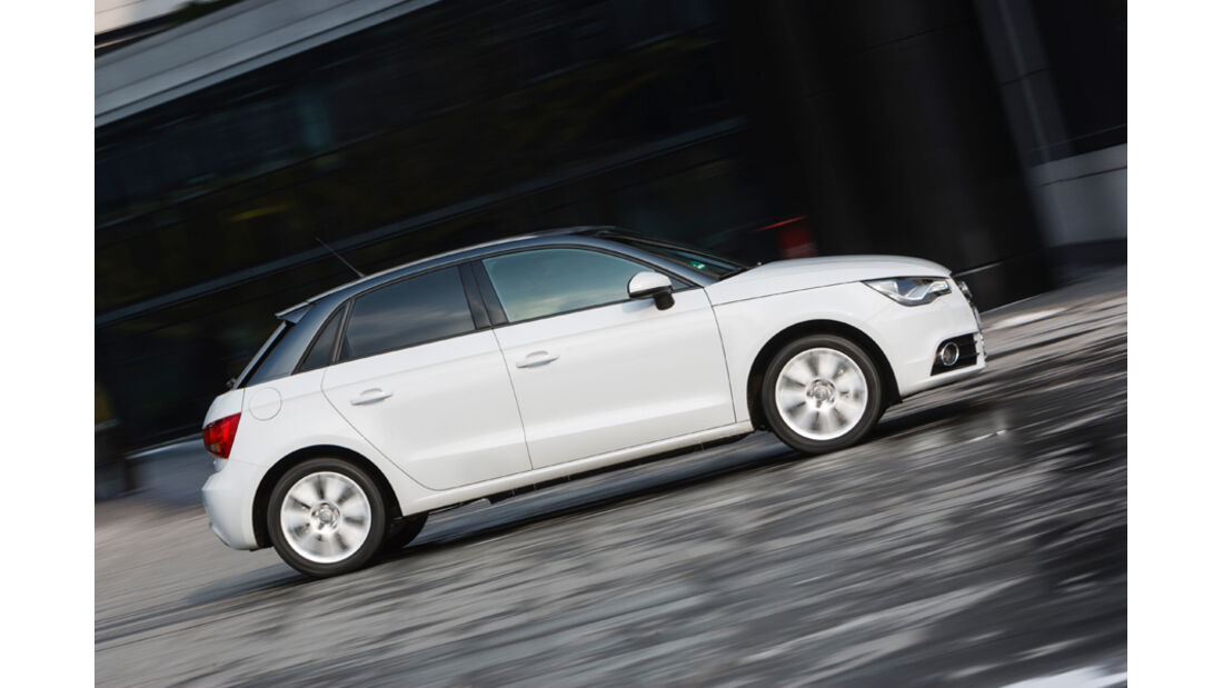 Audi A1 Sportback 2.0 TDI, Seitenansicht