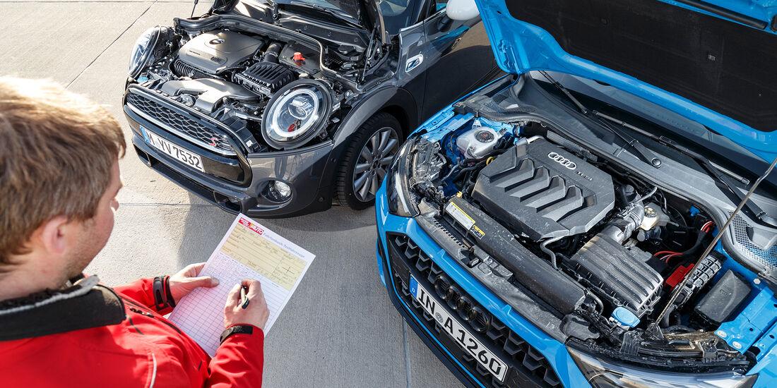 Audi A1 Sportback 40 Tsfi Und Mini Viertürer Cooper S Im Test Auto