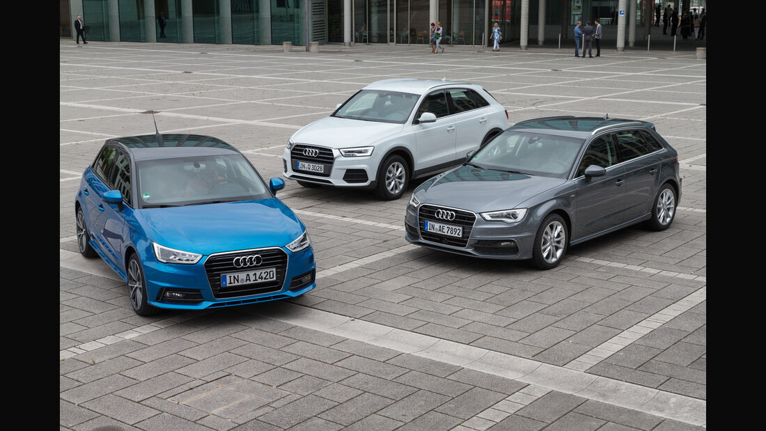 Audi A1 Sportback, Audi A3 Sportback, Audi Q3