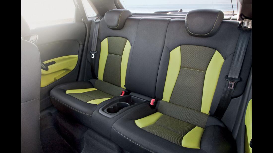 Audi A1 Sportback, Fond