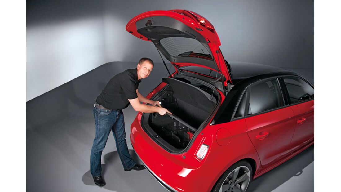 Audi A1 Sportback, Kofferraum