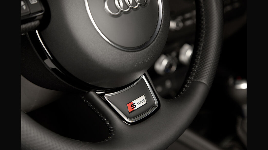 Audi A1 Sportback, Lenkrad Detail S-Line