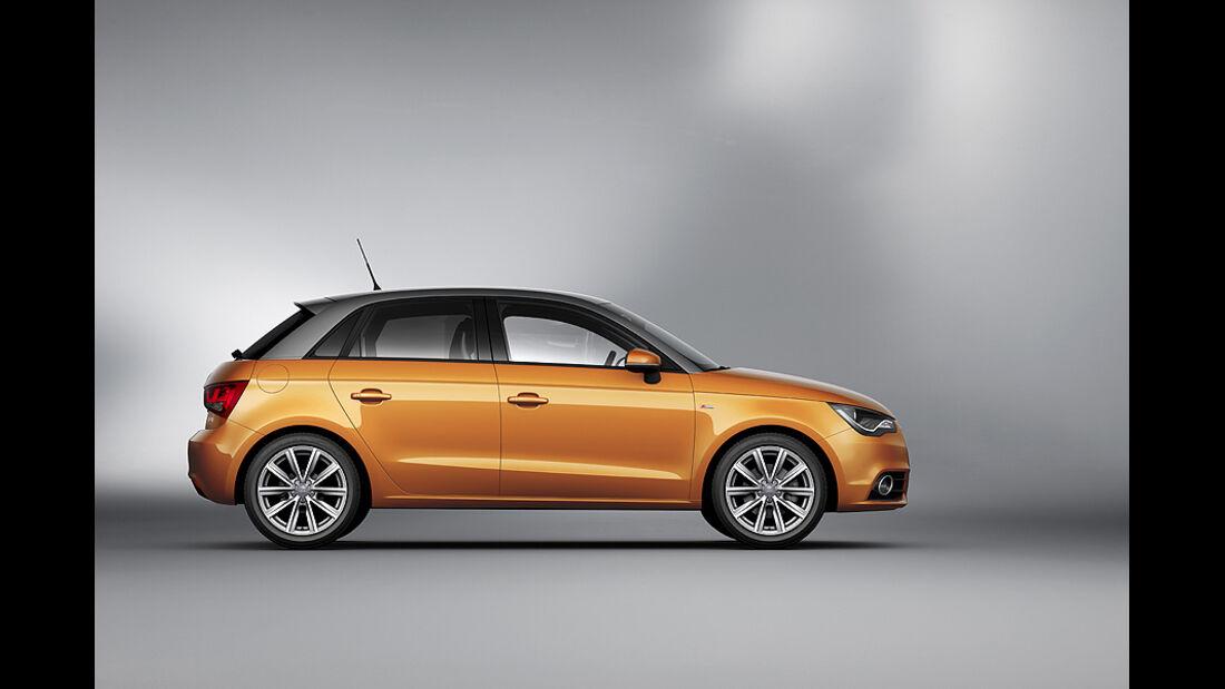 Audi A1 Sportback, Seitenansicht