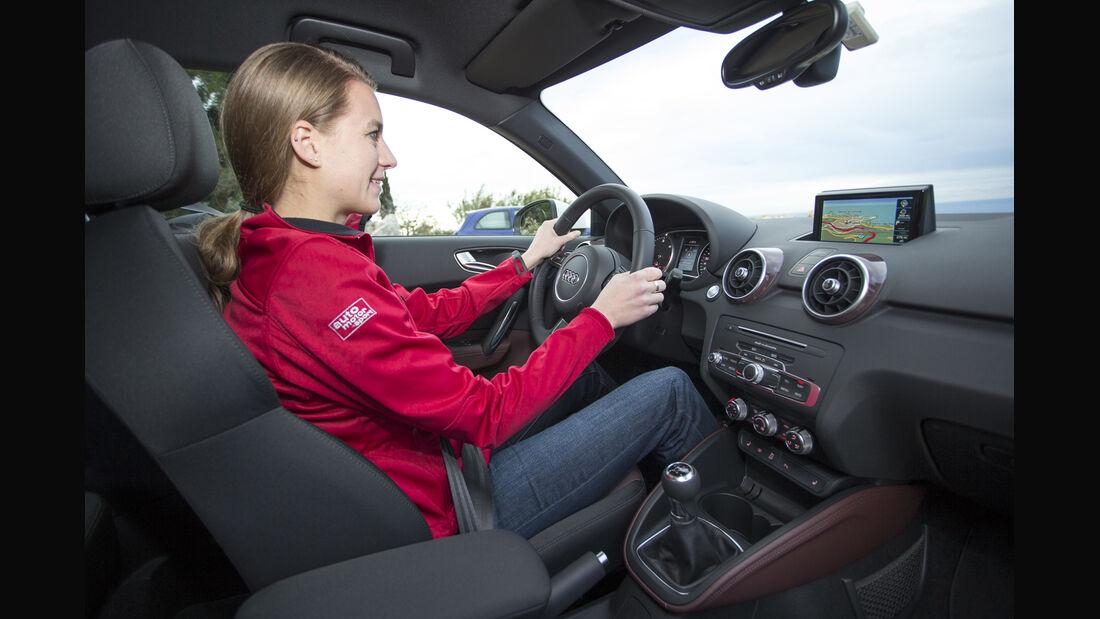 Audi A1, ams, Fahrbericht, Cockpit