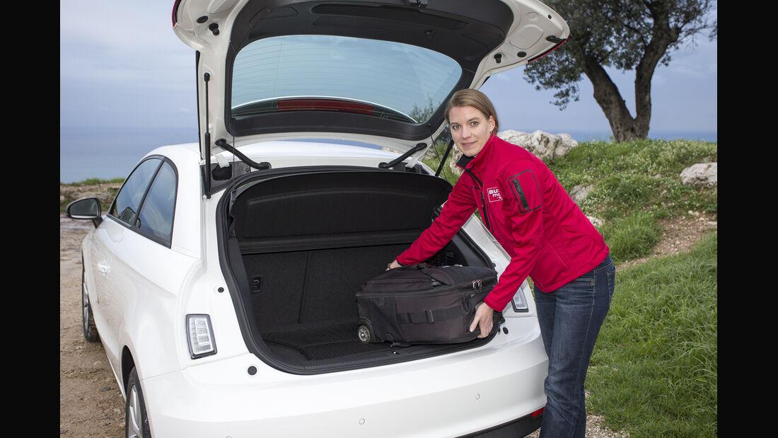 Audi A1, ams, Fahrbericht, Kofferraum