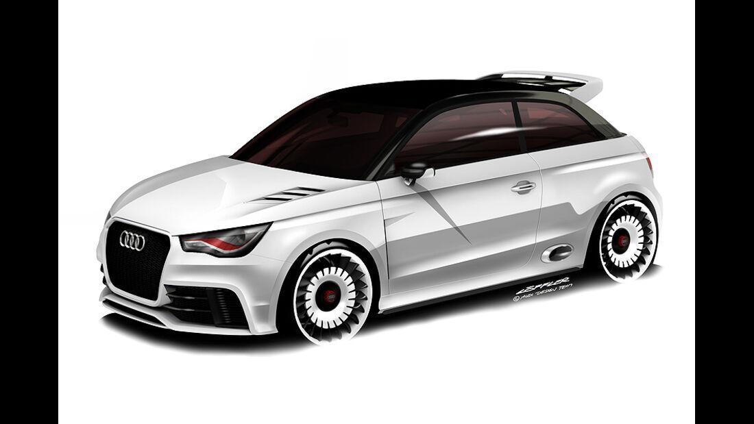 Audi A1 clubsport quattro, Wörthersee 2011, Designzeichnung, Sketch
