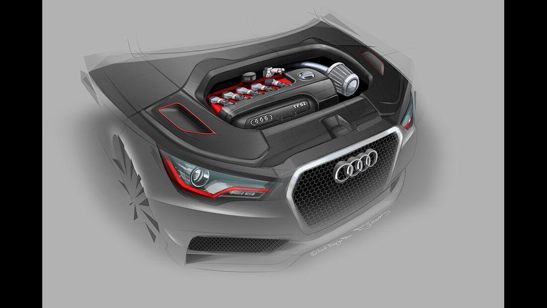Audi A1 clubsport quattro, Wörthersee 2011, Designzeichnung, Sketch, Motor