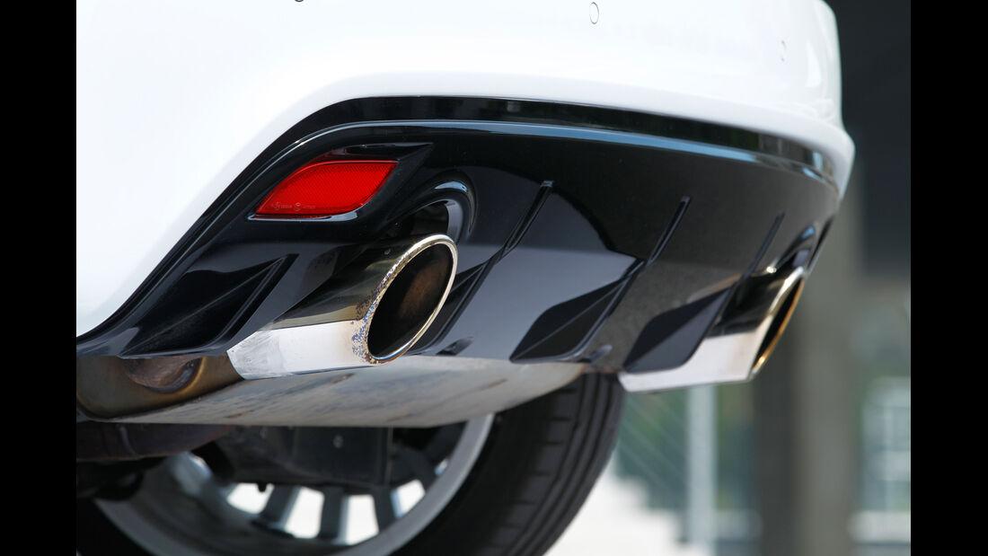 Audi A1 quattro, Auspuff, Endrohr