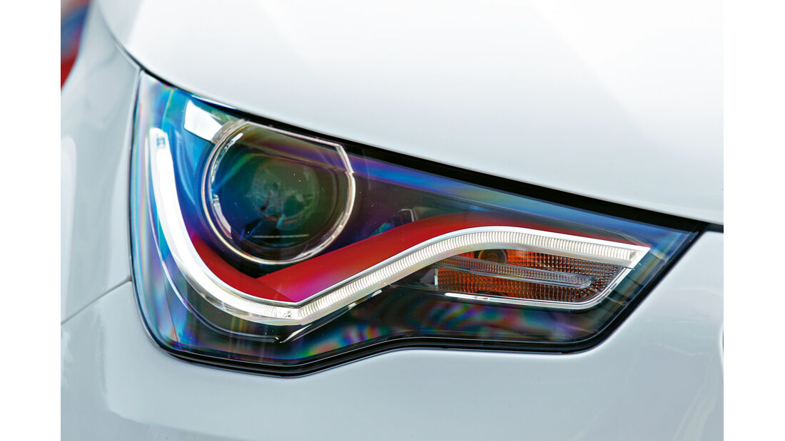 Audi A1 quattro, Frontscheinwerfer