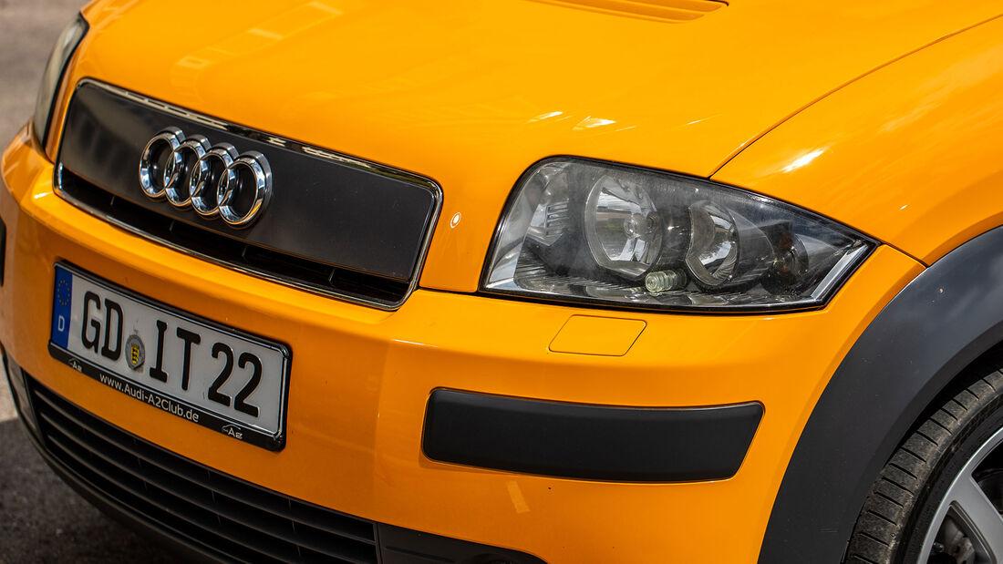 Audi A2 (8Z), (2002-2005), Front, Scheinwerfer, Kühlergrill