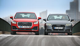 Audi A3 1.4 TFSI, Audi Q2 1.4 TFSI, Frontansicht