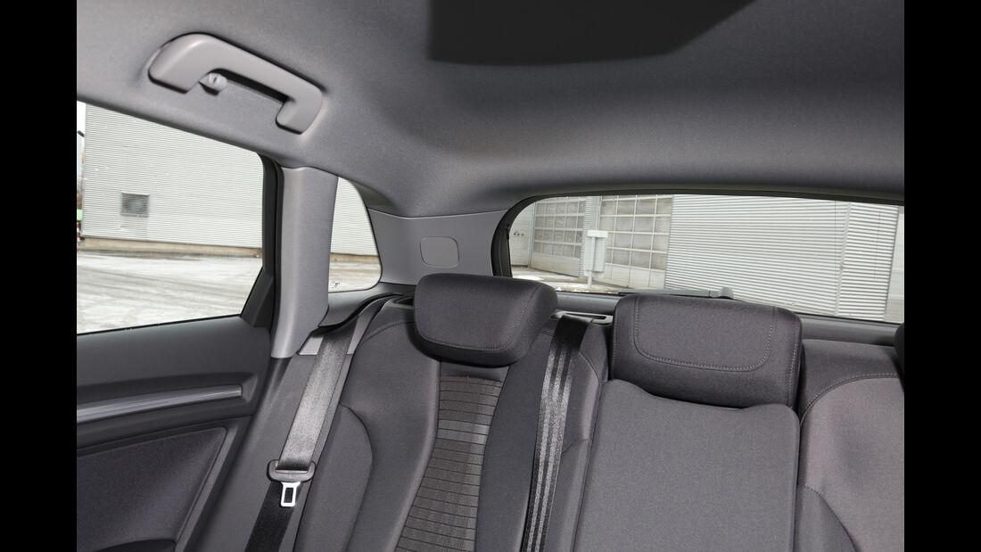 Audi A3 1.4 TFSI, Fondsitze, Innenhöhe