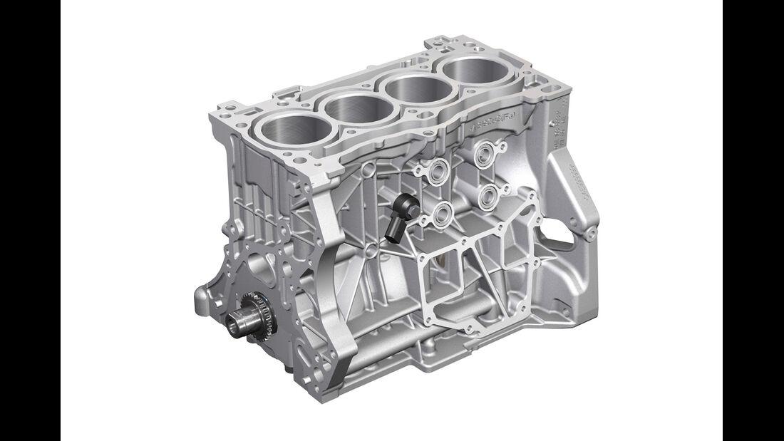 Audi A3, 1.4 TFSI-Motor, Motorblock
