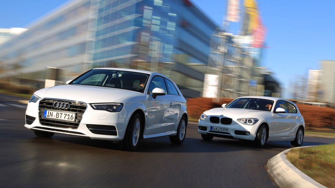 Audi A3 1.6 TDI Ultra, BMW 116d Efficient Dynamics Edition, Frontansicht