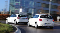 Audi A3 1.6 TDI Ultra, BMW 116d Efficient Dynamics Edition, Heckansicht