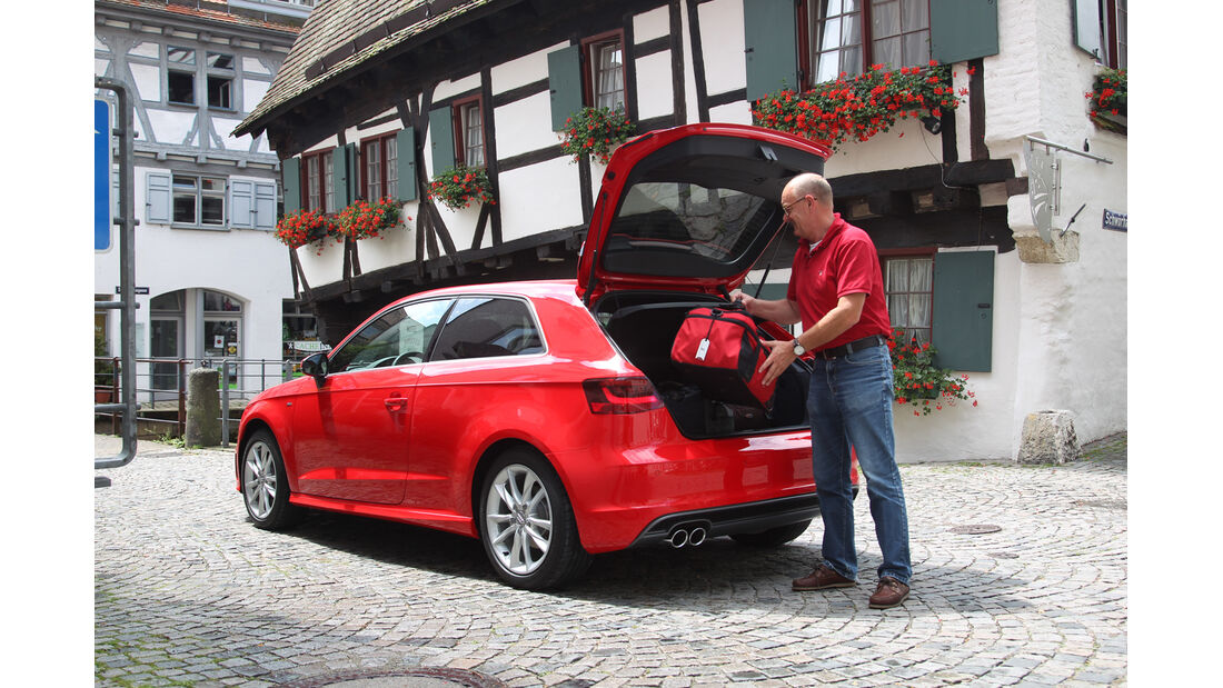 Audi A3 1.8 TFSI, Heckansicht, Heckklappe